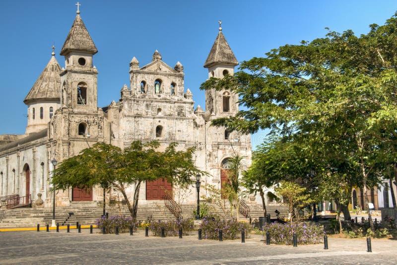 Igreja de Guadalupe em Granada, Nicarágua fotos de stock