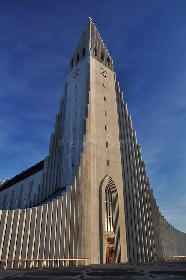 Igreja de Hallgrimskirkja, Reykjavik, Islândia foto de stock royalty free