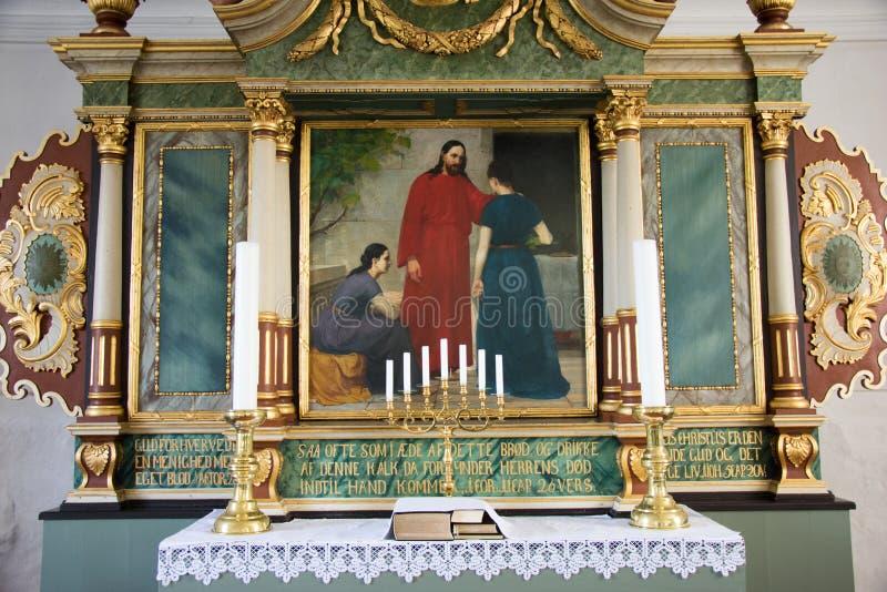 A igreja de Helnaes fotografia de stock royalty free