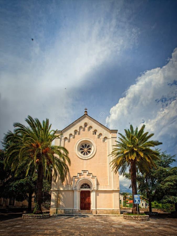 Igreja de Herceg Novi fotografia de stock