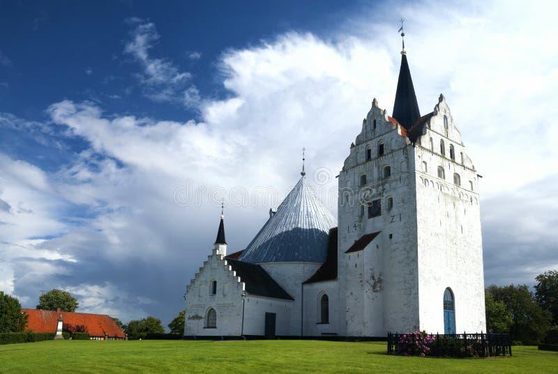 Igreja de Horne perto de Faaborg imagem de stock royalty free