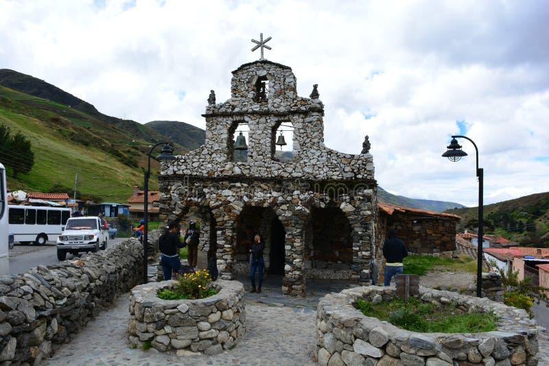 Igreja de Iglesia de Mucuchies em Merida, Venezuela imagem de stock