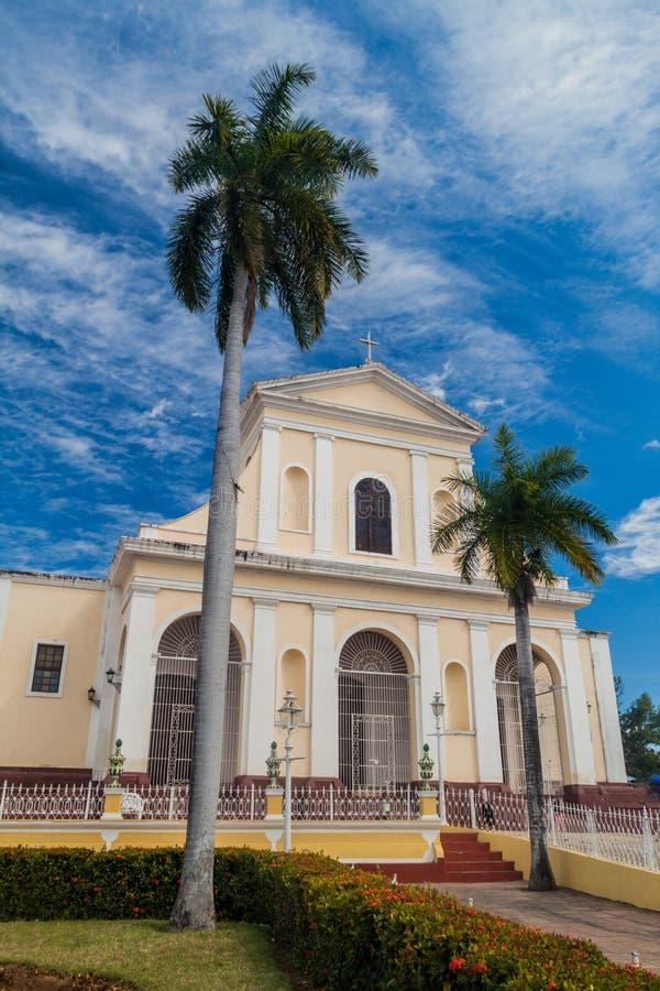 Igreja de Iglesia Parroquial de la Santisima Trinidad em Trinidad, Cub fotografia de stock