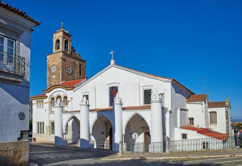 Igreja de Igreja de Santa Maria em Beja, o Alentejo portugal imagem de stock