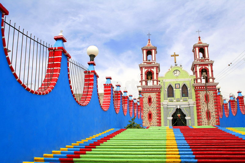 Igreja de Ixtacuixtla foto de stock royalty free