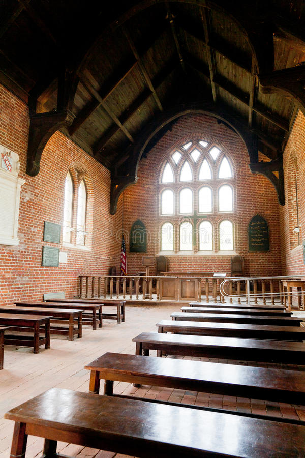 Igreja de Jamestown - interior imagens de stock royalty free