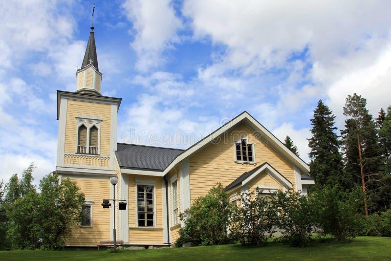 Igreja de Jamijarvi, Finlandia fotografia de stock