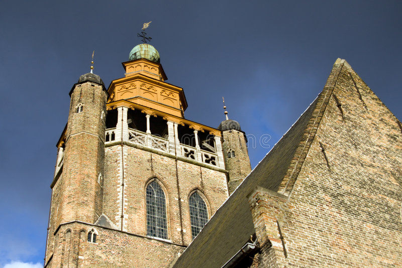 Igreja de Jerusalem em Bruges fotos de stock royalty free