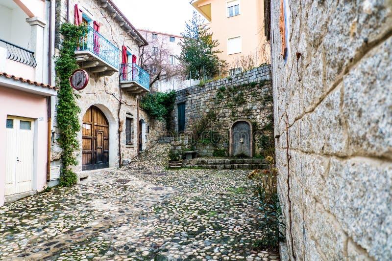 Igreja de Josseph de Saint em Mamoiada, Nuoro, Sardinia, Itália imagem de stock royalty free