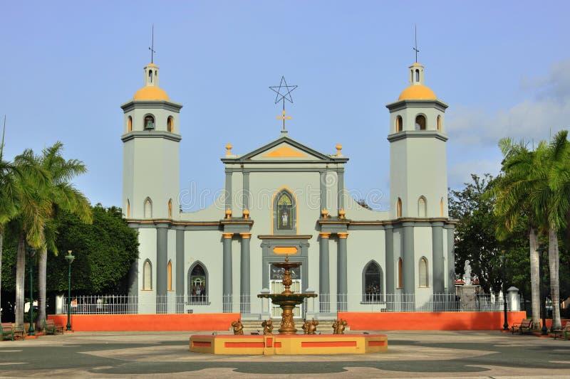 Igreja de Juana Díaz imagem de stock