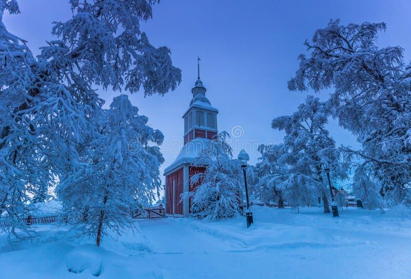 Igreja de Jukkasjarvi, Suécia imagens de stock royalty free