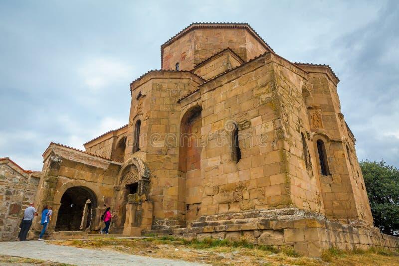 A igreja de Jvari Mtskheta ge?rgia imagens de stock