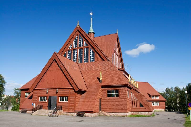 Igreja de Kiruna no verão fotos de stock
