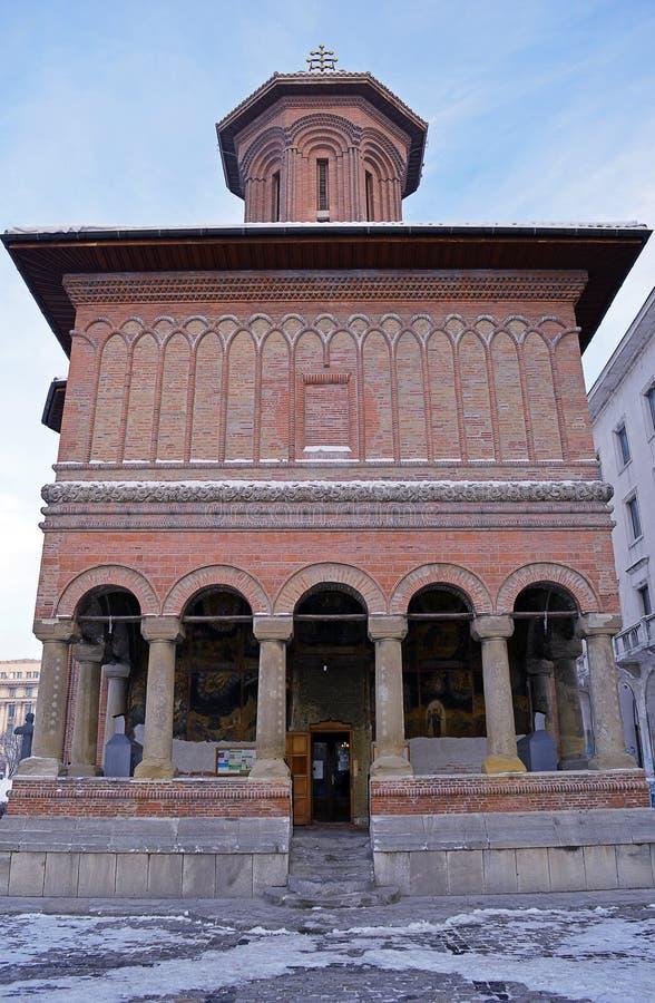 Igreja de Kretzulescu, Bucareste, Romênia fotos de stock