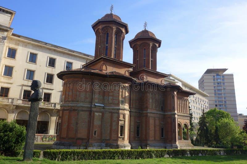 Igreja de Kretzulescu Christian Orthodox em Bucareste imagens de stock royalty free
