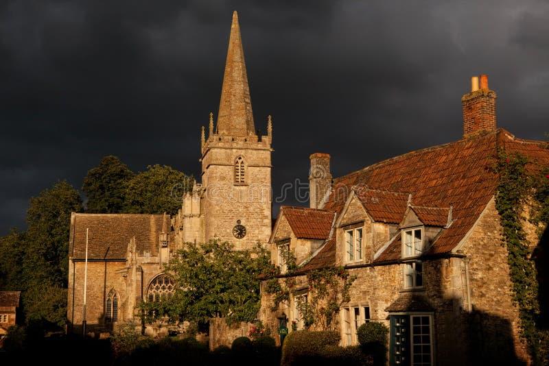Igreja de Lacock foto de stock