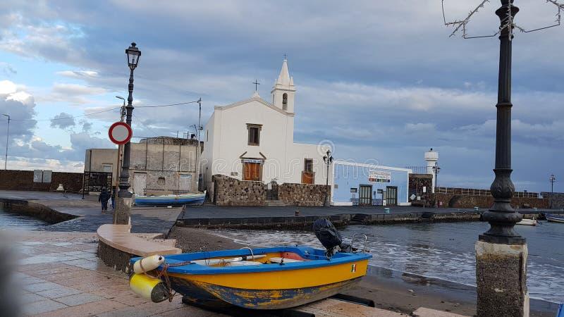 Igreja de Lipari fotos de stock royalty free