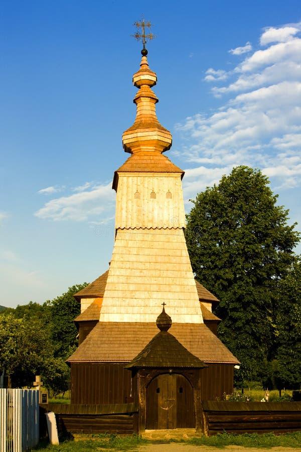 Igreja de madeira fotografia de stock