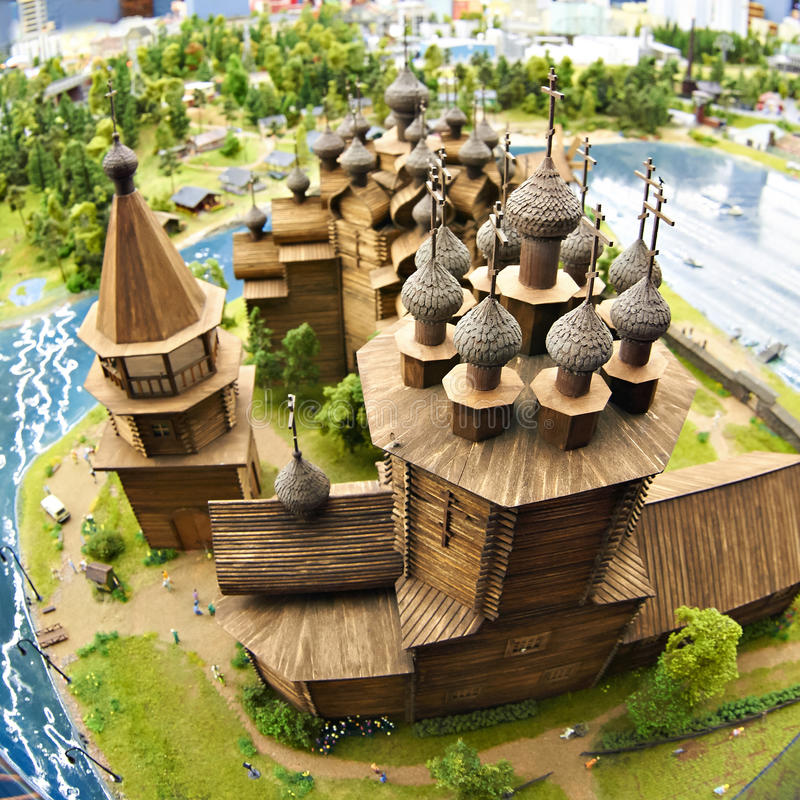 Igreja de madeira de Kizhi fotos de stock