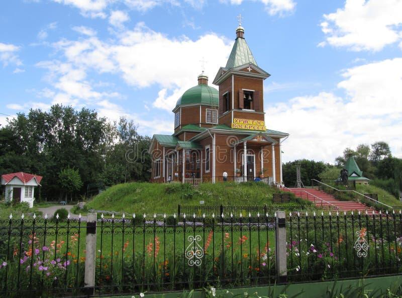 A igreja de madeira do Archangel Michael em Gomel fotos de stock royalty free