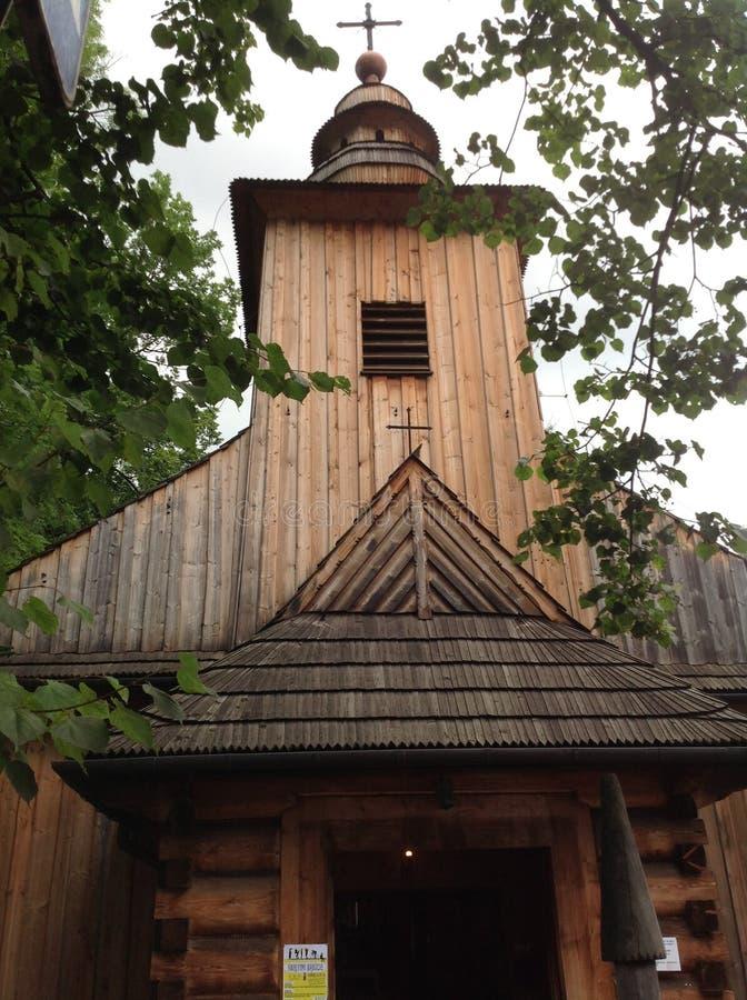 Igreja de madeira em Zakopane, Polônia imagens de stock