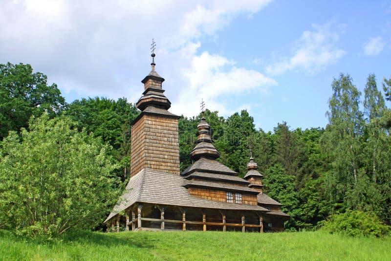 Igreja de madeira velha foto de stock royalty free