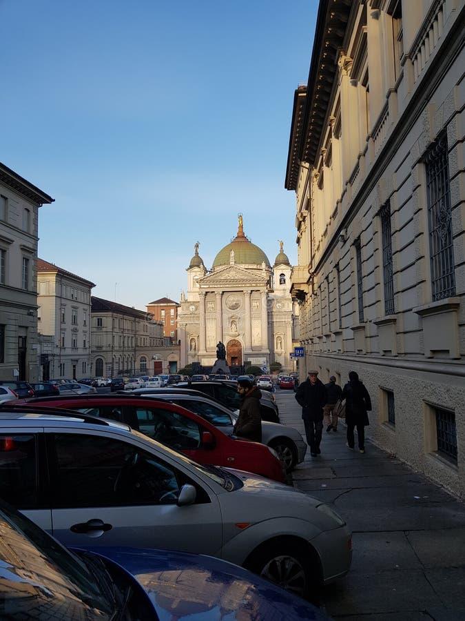 Igreja de Maria Ausiliatrice fotografia de stock
