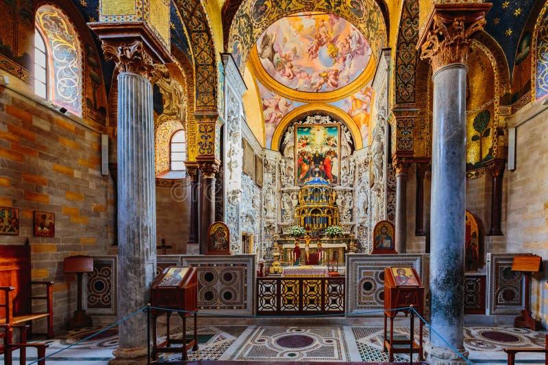 Igreja de Martorana do La em Palermo, Itália fotografia de stock royalty free