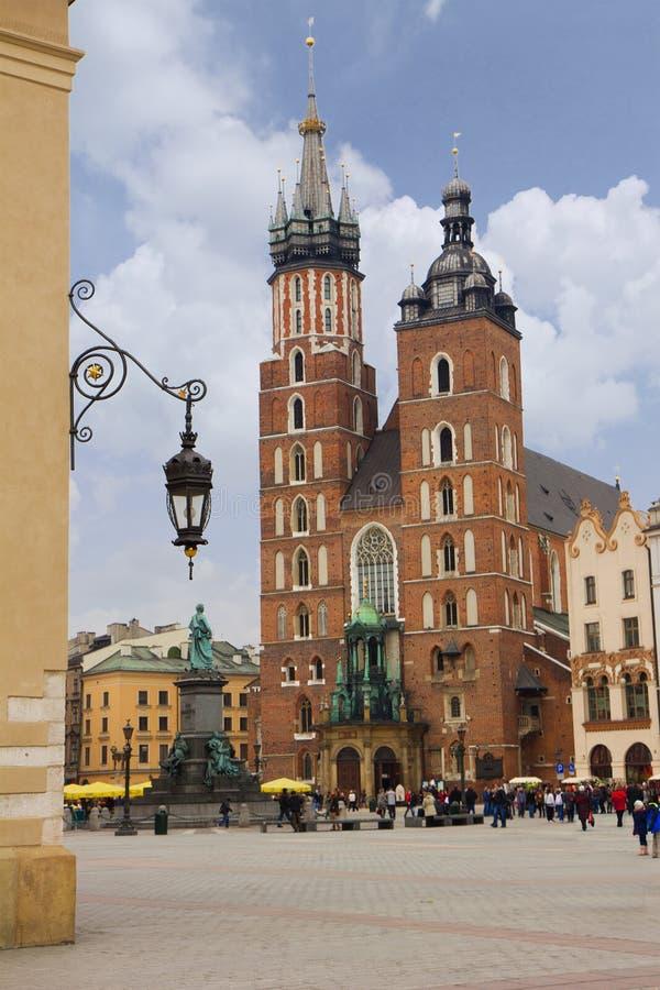Igreja de Mary de Saint em Krakow, Poland fotografia de stock royalty free