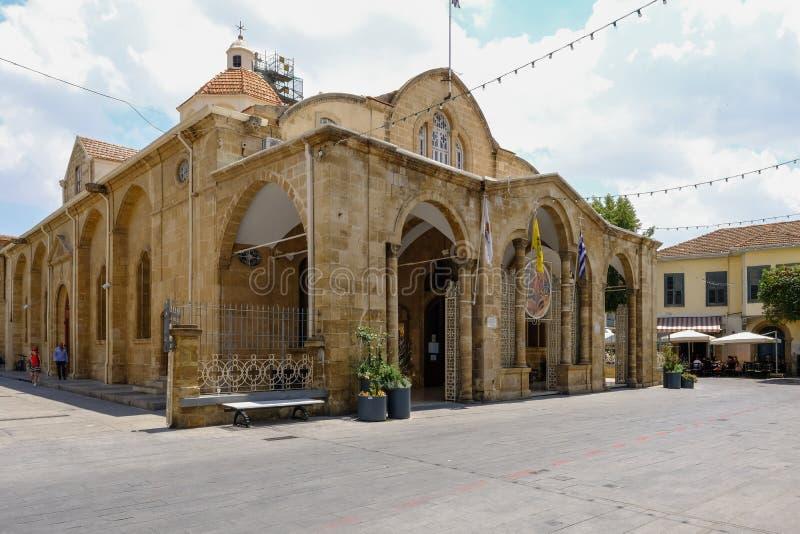 Igreja de Mary santamente, catedral ortodoxo em Nicosia, Chipre foto de stock