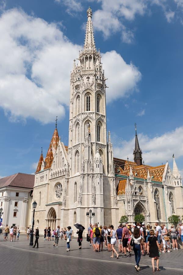 A igreja de Matthias em budapest imagem de stock royalty free