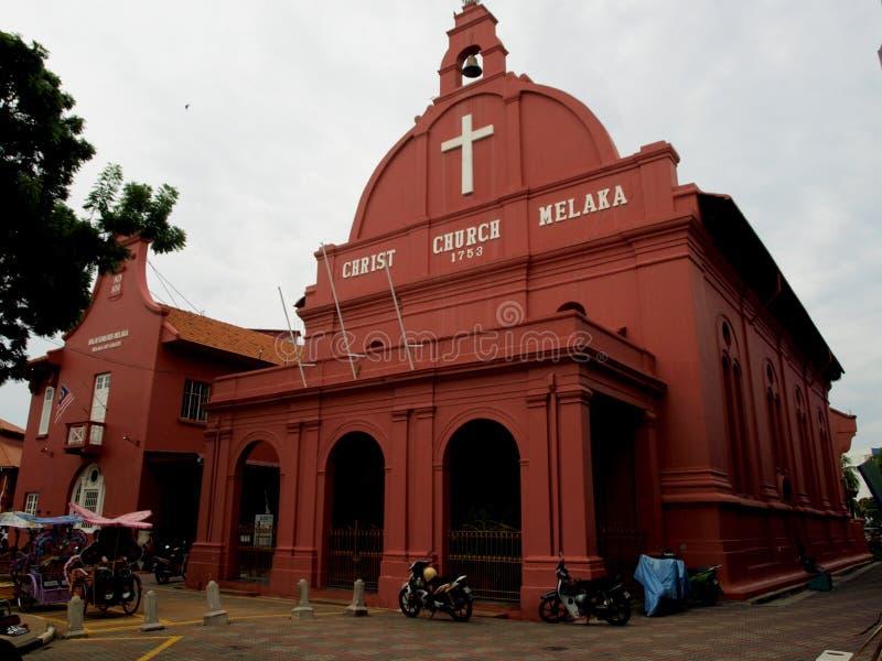 Igreja de Melaka Cristo fotografia de stock