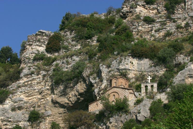 Igreja de Michael de Saint, cidade de Berat foto de stock
