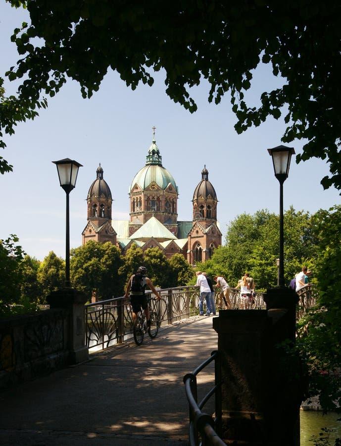 Igreja de Munich de St. Luke foto de stock