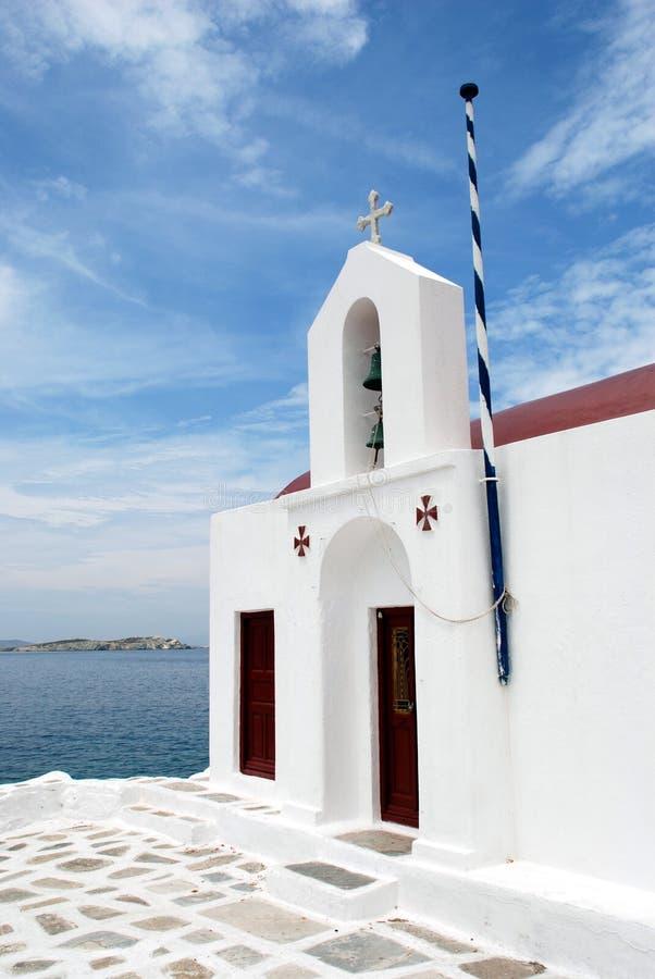 Igreja de Mykonos fotos de stock