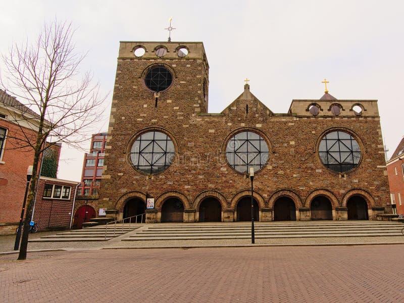 Igreja de Neoroman de James, filho de Zebedee, Enschede imagens de stock royalty free