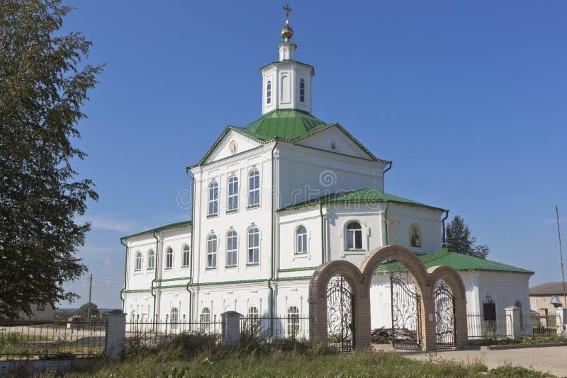 Igreja de Nikolaya Chudotvortsa na cidade de Kotlas, região de Arkhangelsk fotografia de stock