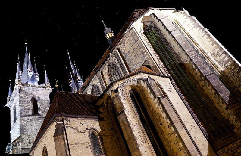 Igreja de nossa senhora antes de Tyn imagem de stock