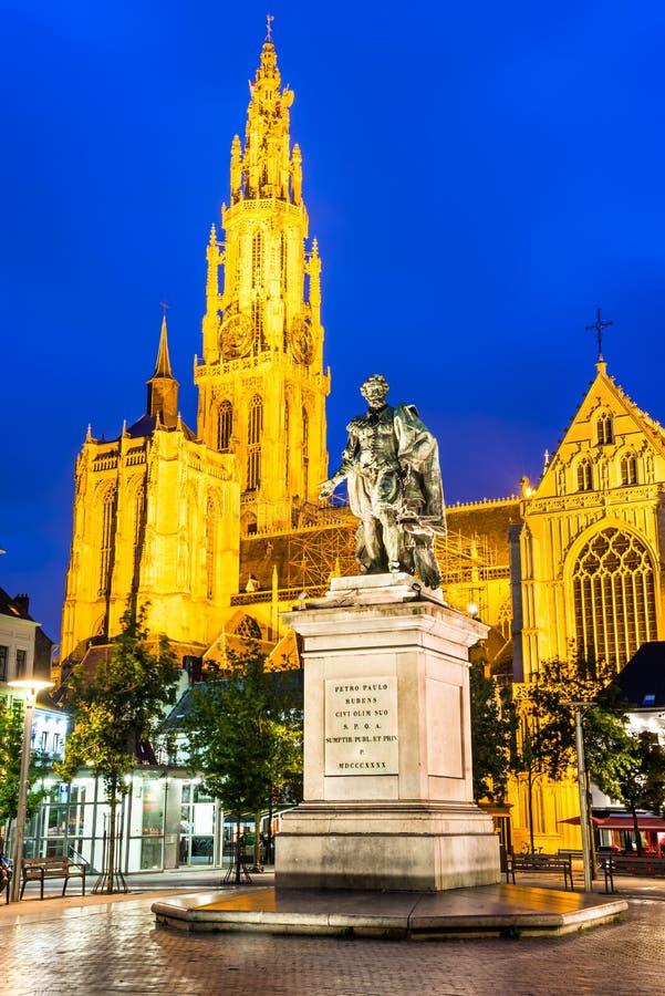 Igreja de nossa senhora, Antuérpia, Bélgica fotos de stock