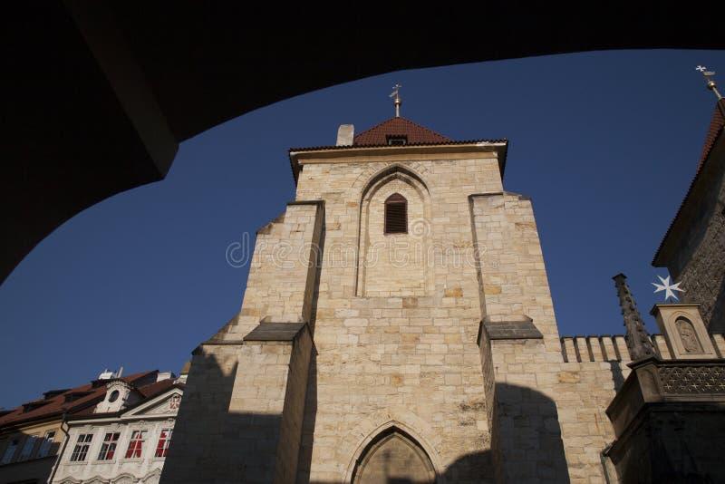 Igreja de nossa senhora Beneath a cadeira, quadrado maltês; Praga fotografia de stock royalty free