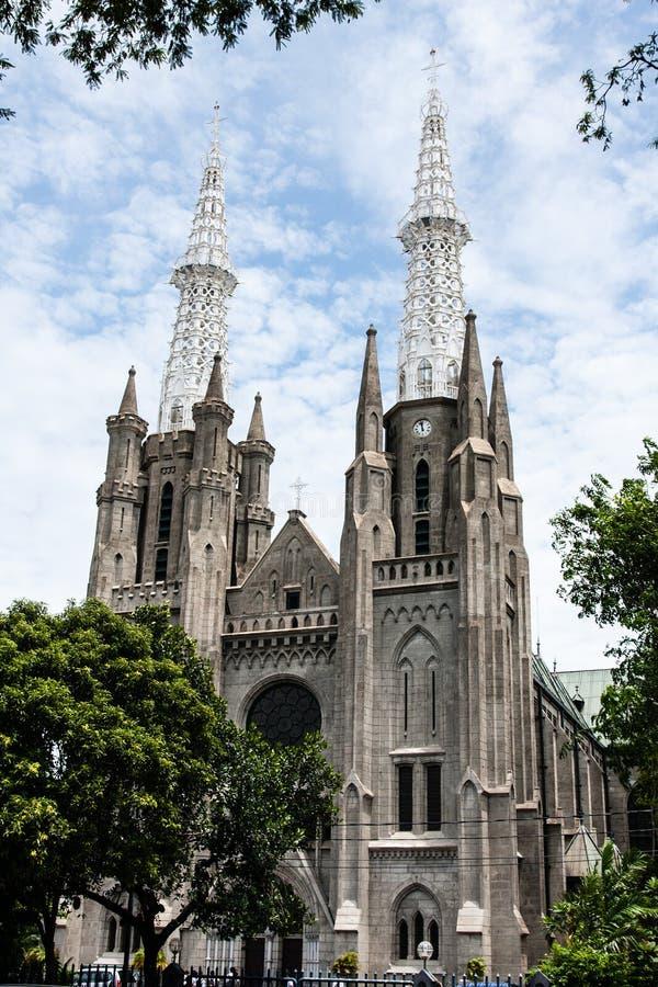 A Igreja de Nossa Senhora da Assunção, Jacarta, Indonésia fotos de stock royalty free