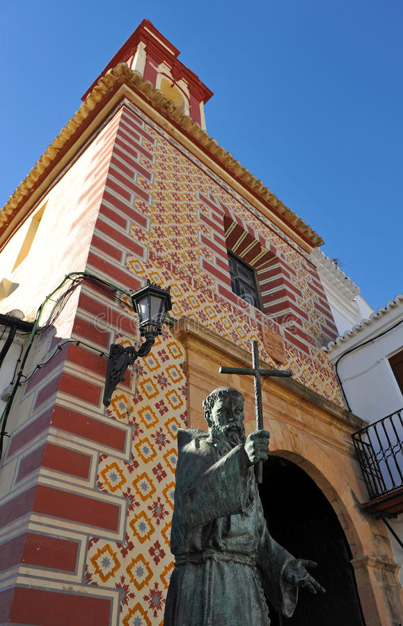 Igreja de nossa senhora da paz e da batalha Diego Jose de Cadiz província em Ronda, Malaga, a Andaluzia, Espanha imagens de stock