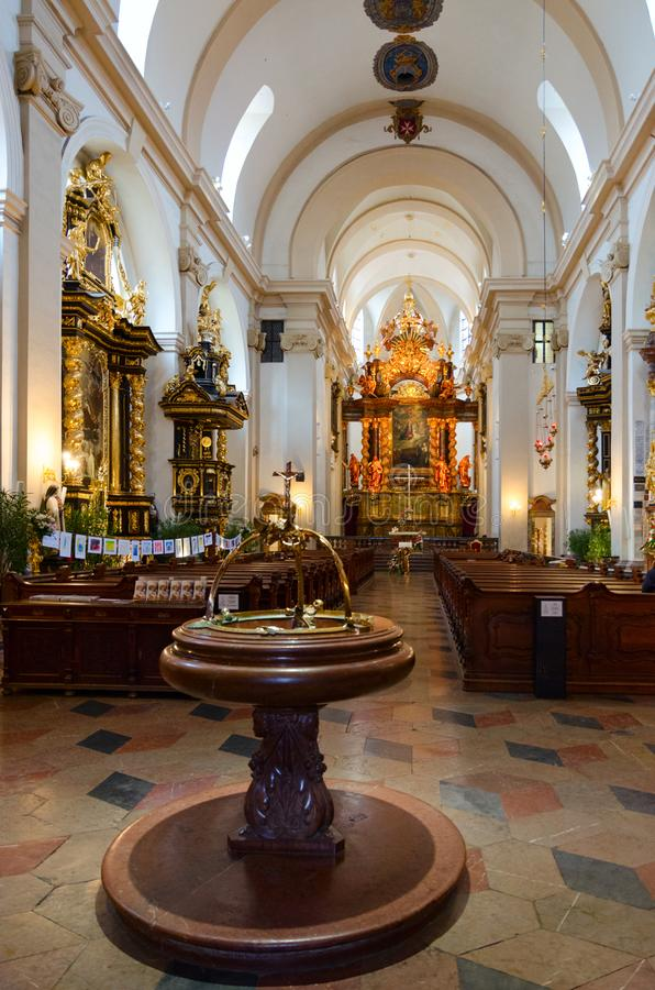 Igreja de nossa senhora da igreja triunfante de nossa senhora Victorious e St Anthony de Pádua, Praga, República Checa imagens de stock