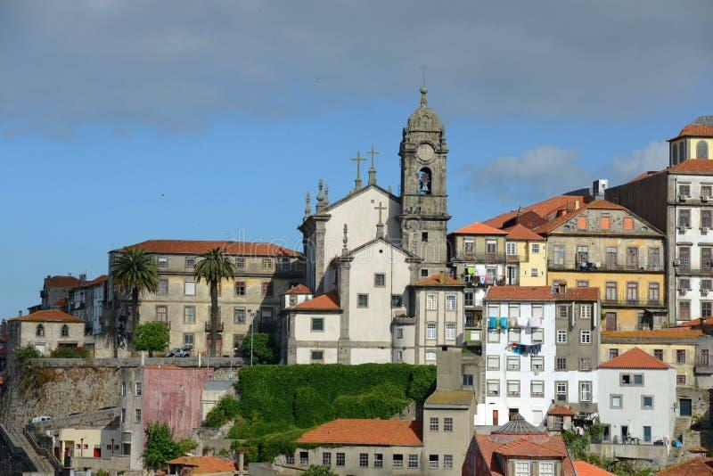 Igreja de Nossa Senhora DA Vitória, alte Stadt Porto, Portugal stockbilder