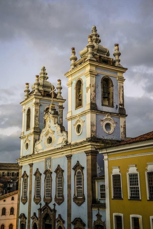 Igreja DE Nossa Senhora doet Dos Pretos, Pelourinho, Salvador, Bahia, Brazilië van Rosà ¡ Rio royalty-vrije stock fotografie