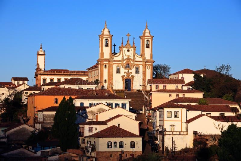 Igreja de Nossa Senhora faz a igreja Ouro Preto Brasil de Carmo fotografia de stock
