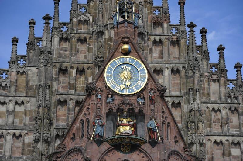 Igreja de nossa senhora, Nuremberg imagem de stock