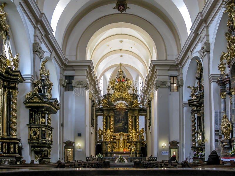 Igreja de nossa senhora Victorious, Praga fotografia de stock