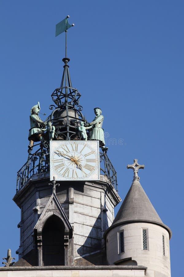 Igreja de Notre-Dame de Dijon em Borgonha imagens de stock