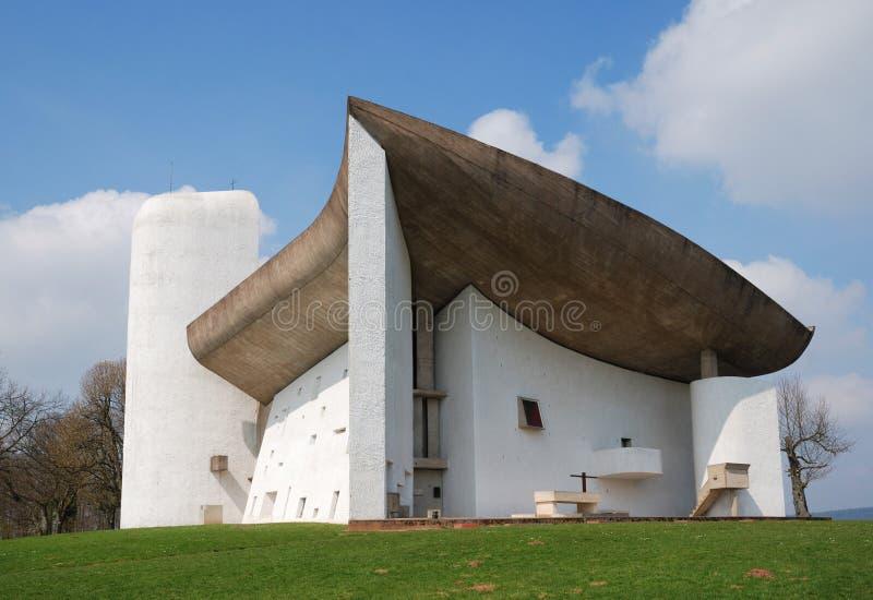 A igreja de Notre Dame du Haut imagens de stock